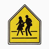 Pedestrian crossing sign. — Stock Photo