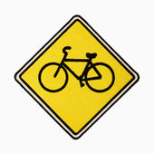 Bicycle road sign. — Stock Photo