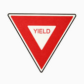 Yield sign. — Stock Photo