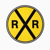 Demiryolu geçidi işaret. — Stok fotoğraf