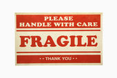 Fragile sign. — Stock Photo