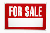 For sale sign. — Stock Photo