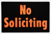 No soliciting sign. — Stock Photo