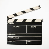 Movie clapboard. — Stock Photo