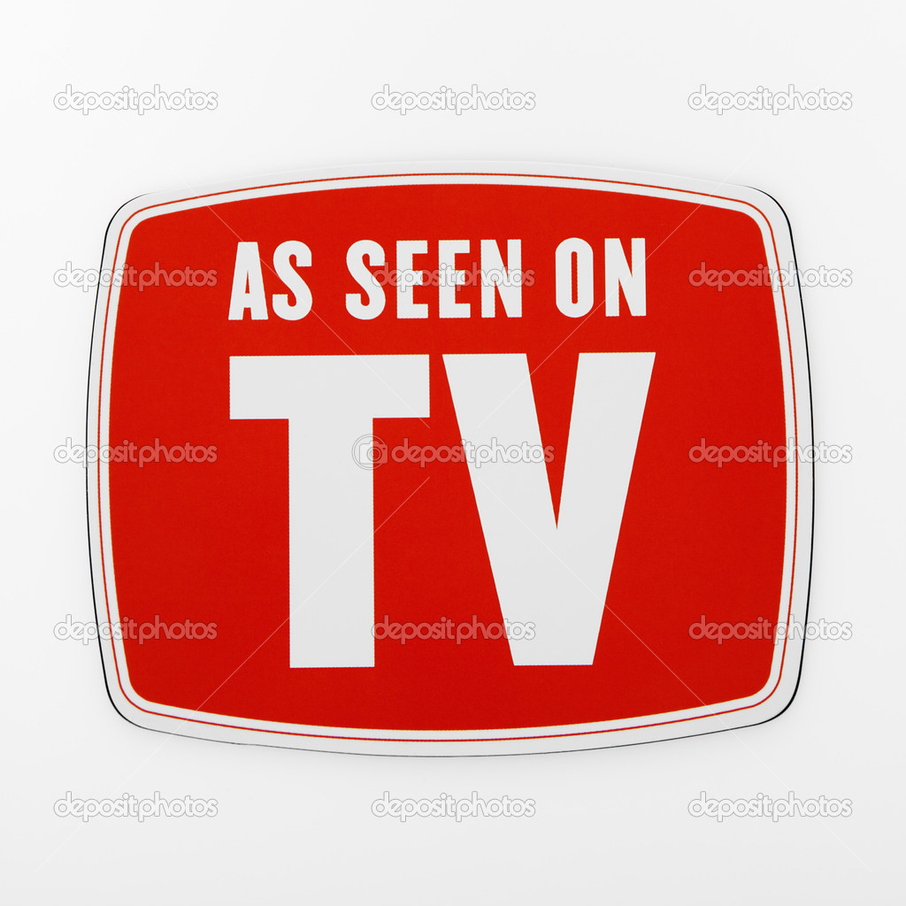 As seen on TV sign. — Stock Photo #9299065