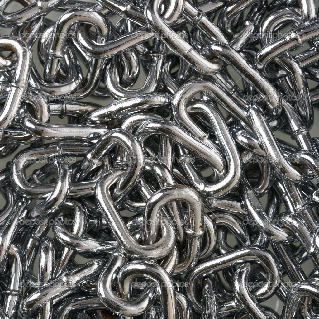 Pile of chain links. — Stock Photo #9299076
