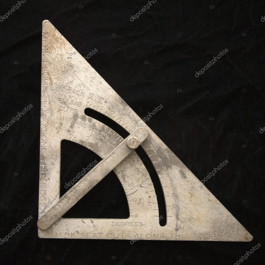 Metal carpentry square. — Stock Photo #9299111