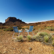 Royalty-Free Stock Photo: Chairs in desert.