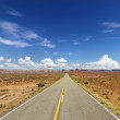 Two Lane Highway Through Desert — Stock Photo #9302272