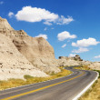 Stock Photo: Road Through Badlands
