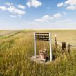 Rural cemetery sign. — Stockfoto