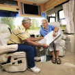 Senior couple in RV. — Stock Photo #9304004