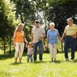Family in park. - Stock Photo