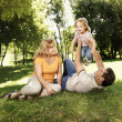 Family in park. — Stock Photo #9304167