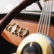 Stock Photo: Boat steering wheel.
