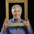 Man in picture frame. — Stock Photo #9305426
