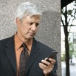 Businessman text messaging. — Stock Photo