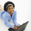 Girl on laptop. — Stock Photo #9305886