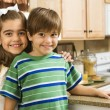 Happy brother and sister. — Stock Photo