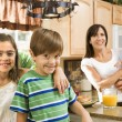 Royalty-Free Stock Photo: Family in kitchen.