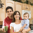 Family kitchen portrait. — Stock Photo