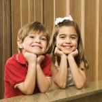 Hispanic sibling portrait. — Stock Photo