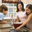 Family making cookies. — Stock Photo