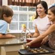 Family making cookies. — Stock Photo #9306006