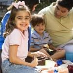 Family picnic. — Stock Photo