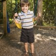 Boy on swing. — Stock Photo