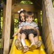 Kids on slide. — Stock Photo #9306080