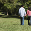 Couple in park. — Stock Photo