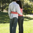 Stock Photo: Couple in park.
