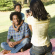 Taking family photos. — Stock Photo