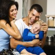 Foto Stock: Happy family.
