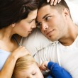 Family relaxing. - Stock Photo