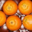 Five tangerines. — Stock Photo