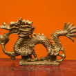 Chinese dragon statue. - Stock Photo