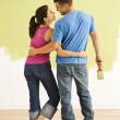 Couple improving home. - Stockfoto