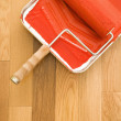 Paint roller and tray. — Stock Photo