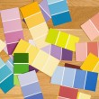 Color paint swatches. - Stock Photo