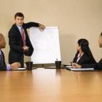 Businessman doing presentation. — Stock Photo