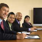 Happy business meeting. — Stock Photo