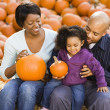 Stock Photo: Family at Halloween.
