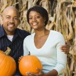 Fall couple portrait. — Stock Photo
