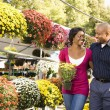 Stock Photo: Couple buying flowers.
