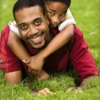 Stockfoto: Father and son playing