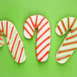 Candy cane cookies. — Stock Photo