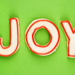 Joy sugar cookies. — Stock Photo