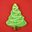 Stock Photo: Christmas tree cookie.